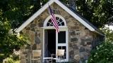 Stone cabin at Brave Boat Harbor Farm 1