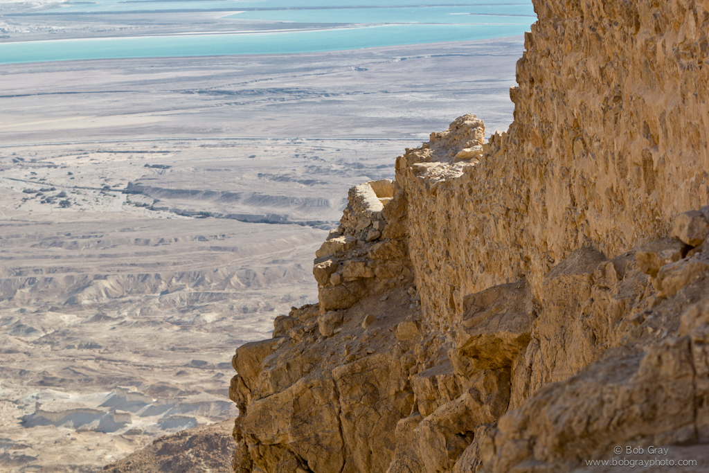 Dead Sea from the fortress at Masada