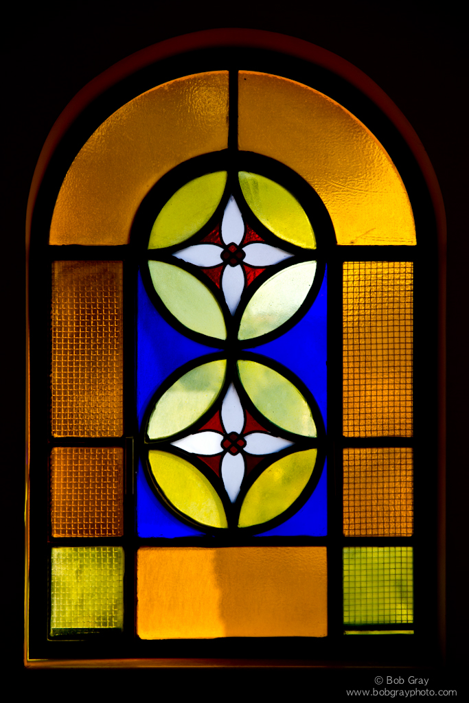Stained glass at Peter in Gallicantu