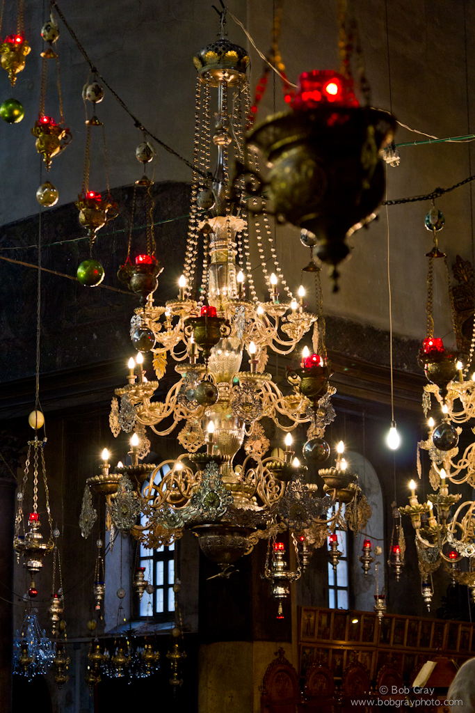 Chandelier at the Church of the Nativity