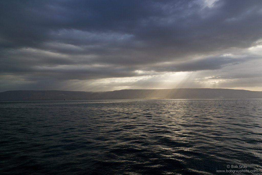 Sunbeams on the Sea of Galilee 1