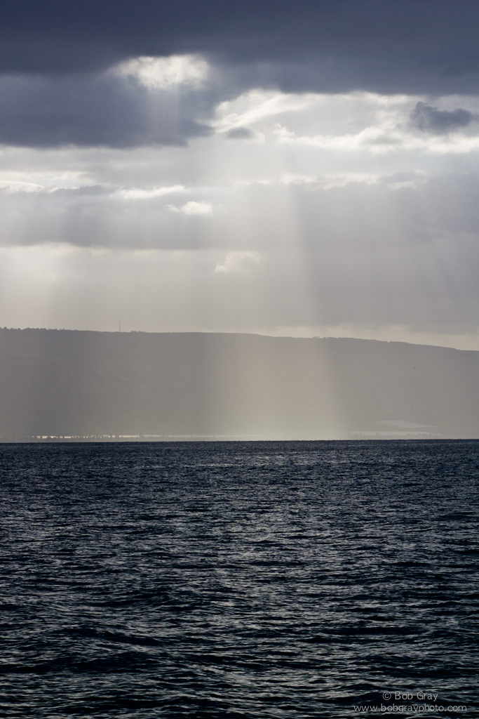 Sunbeams on the Sea of Galilee 3