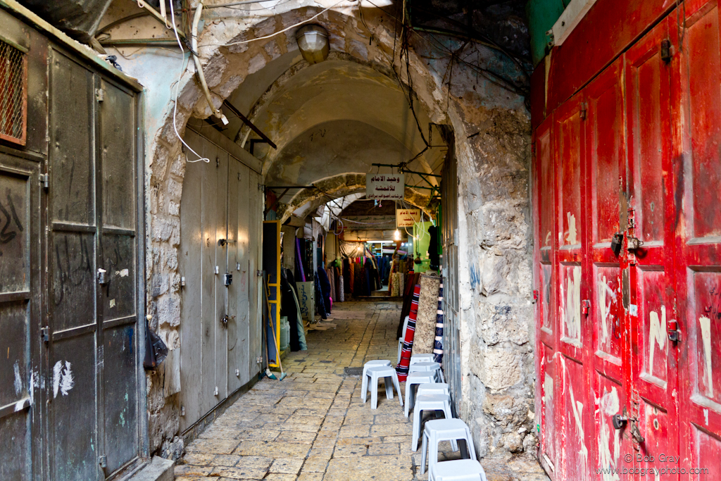 Fabric stores, Jerusalem market