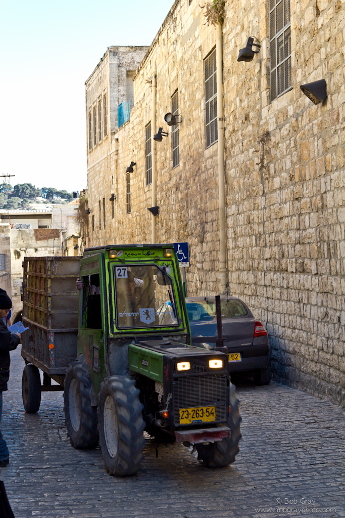 A narrow tractor for narrow streets