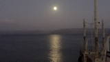 Moon over Sea of Galilee