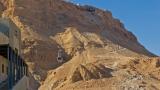 Cable cars at Masada