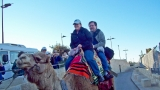Shea and me on a camel (Cheryl Bartlett photo)