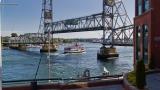 MV Thomas Laighton heading downriver under the Memorial Bridge. Taken from Harbour Place