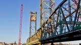 Bridge, cranes - before the float-out