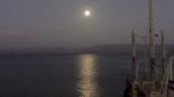 Moon over Sea of Galilee